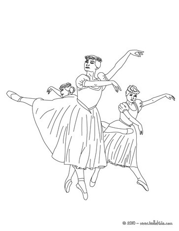 Ballet Dancers Drawing