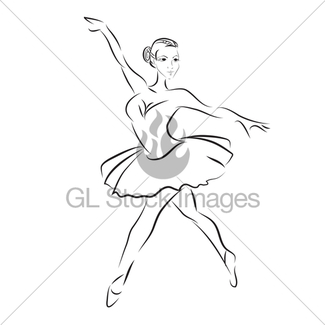 325x325 Ballet Dancer, Drawing In Watercolor Style Gl Stock Images