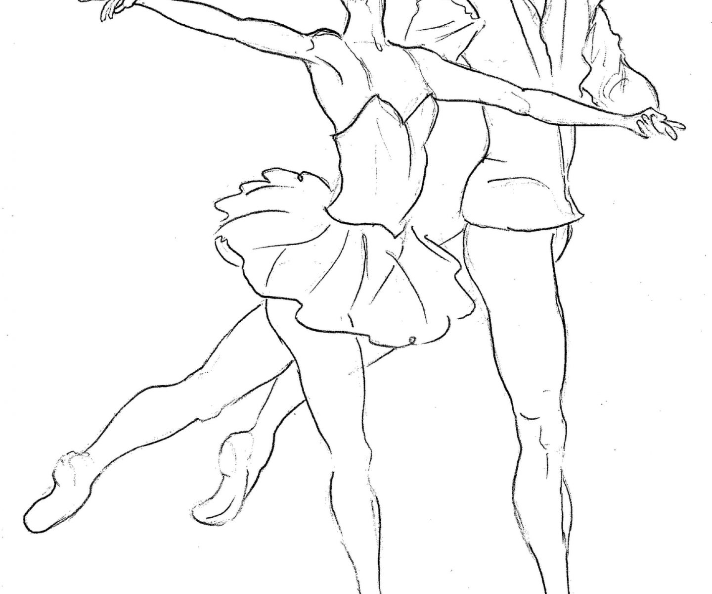 1440x1200 Coloring Sheets Ballet Dancer To Print Pages Free Printable Kids