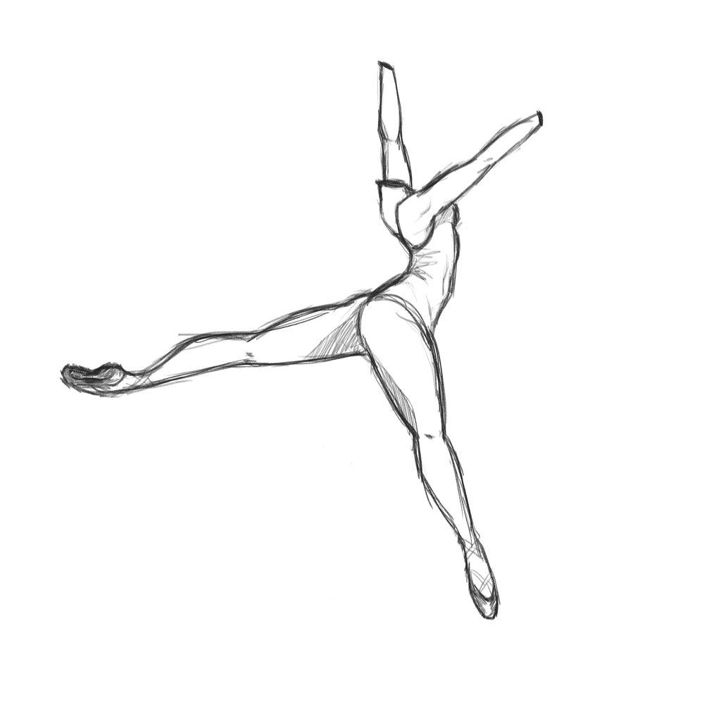 1024x1024 Drawn Dancer Ballet Arabesque