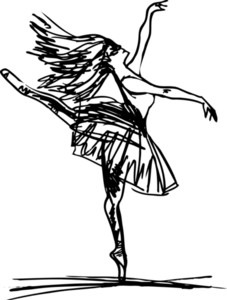 227x300 Sketch Of Ballet Dancer's Feet. Vector Illustration Royalty Free