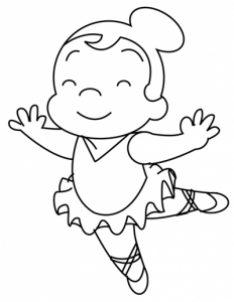 234x302 Drawn Ballet Line Drawing