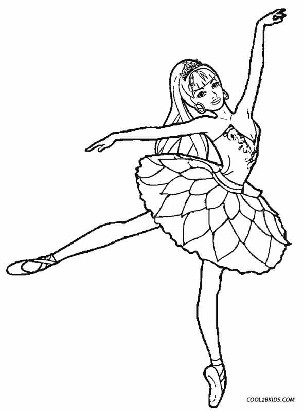 589x800 Edge Ballet Coloring Pages Printable For Kids Cool2bkids Ballerina