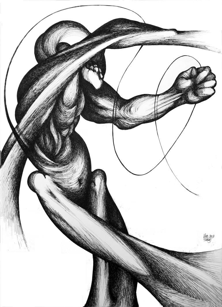 770x1065 Saatchi Art Unpleasant Ballet Drawing By Red Tweny