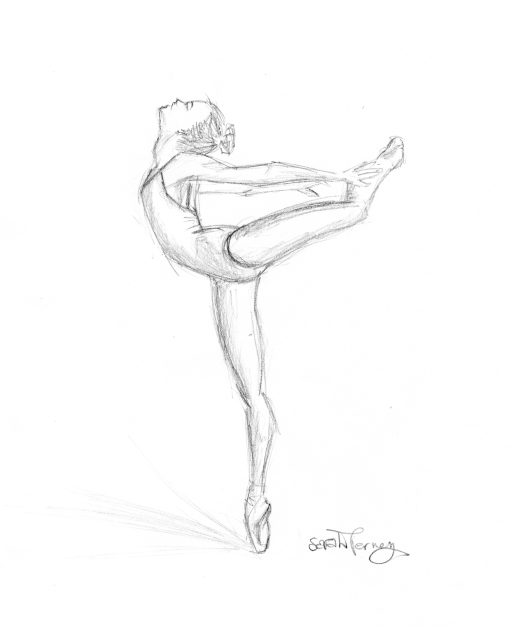 513x627 Ballerina In Attitude By Sarbearbaby