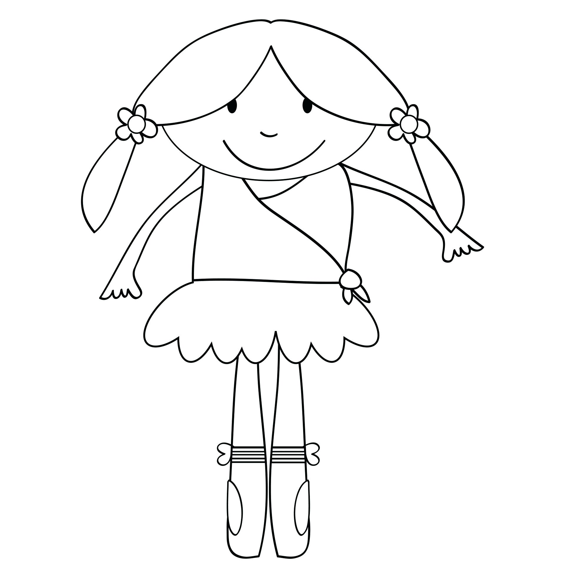 1920x1920 Coloring Ballet Coloring Page