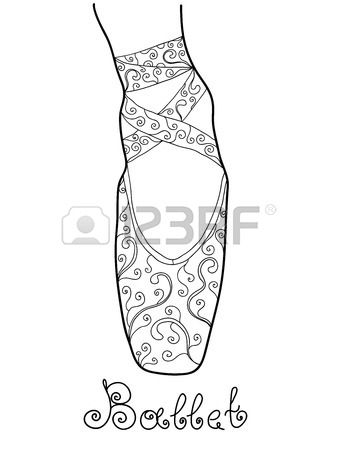 338x450 Pink Ballet Pointe Shoes On White Background Royalty Free Cliparts