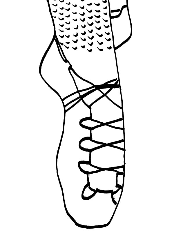 ballerina shoes coloring pages - photo#26