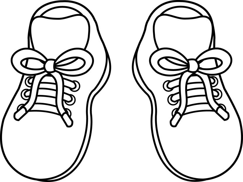 830x621 Shoes Clipart Black And White