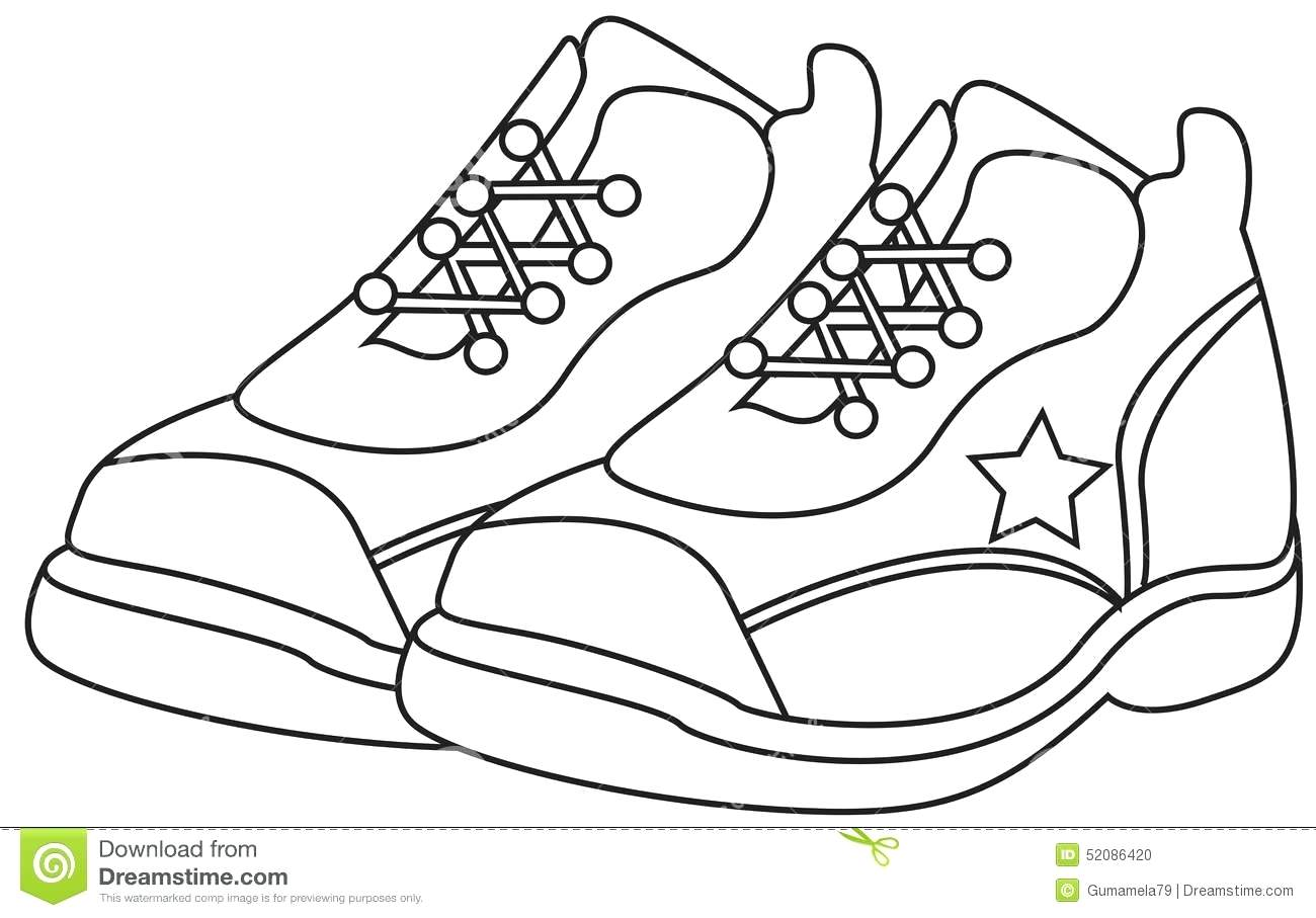 1300x907 Coloring Coloring Page Shoes Sneakersin Pages Me Best
