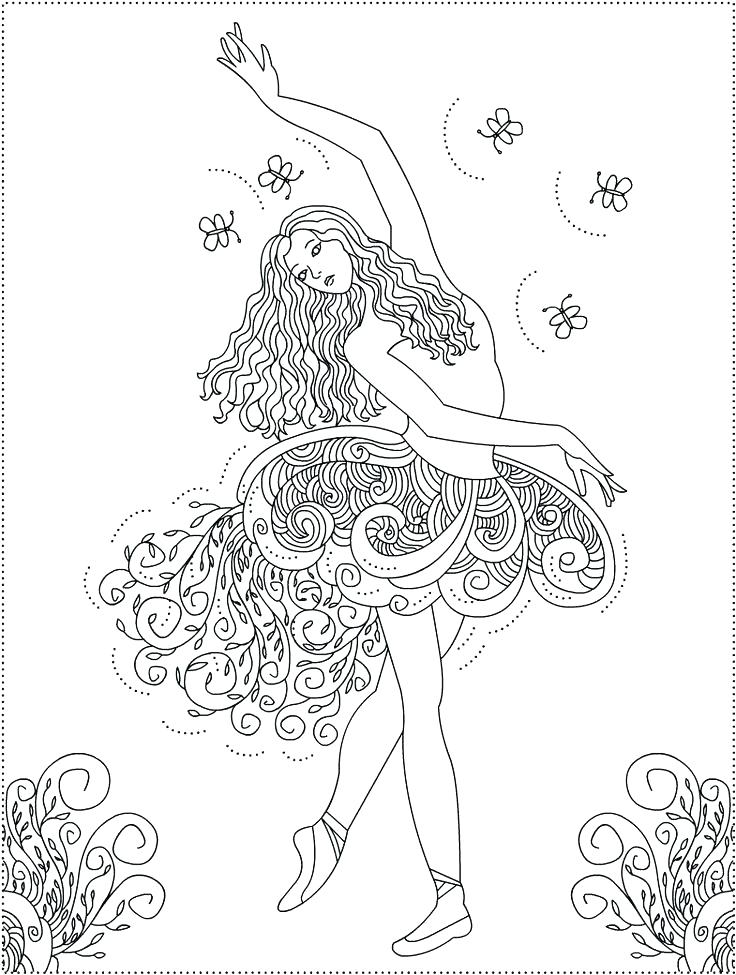 736x975 Coloring Pages Ballerina Free Ballerina Coloring Pages Free