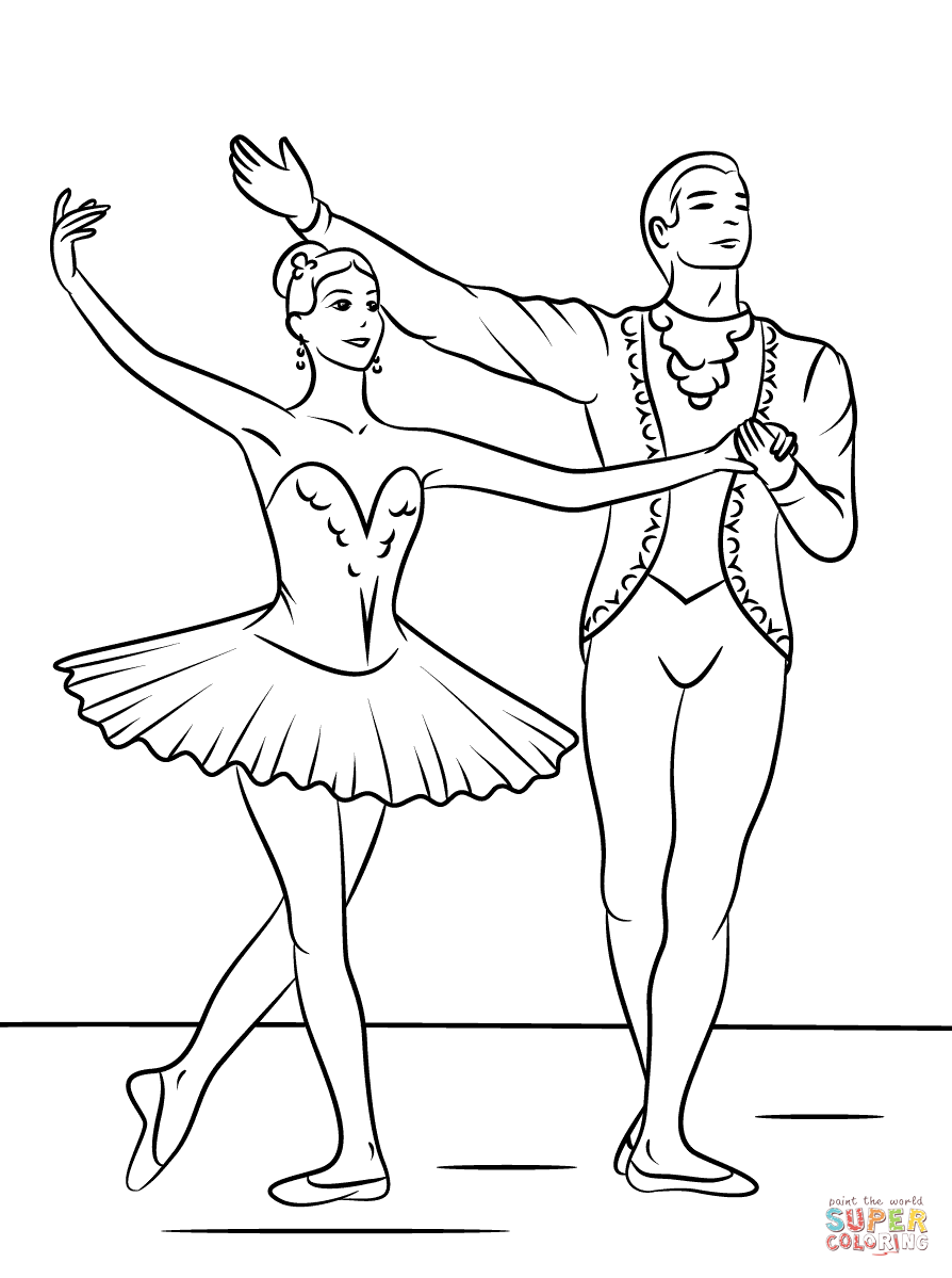 894x1199 Sleeping Beauty Ballet Coloring Page Free Printable Coloring Pages