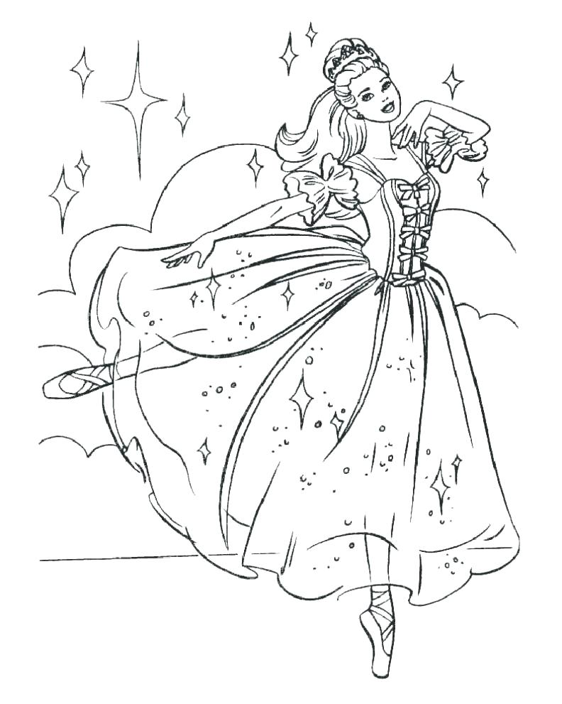 792x991 Ballet Coloring Pages Printable Also Ballet Coloring Pages