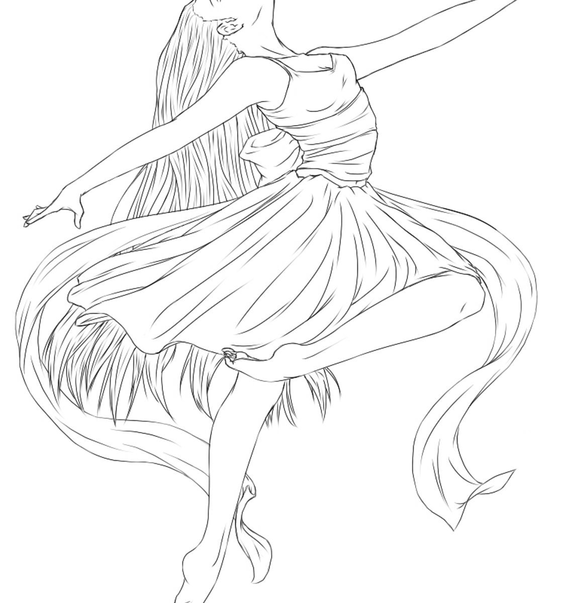 1152x1200 Ballerina Coloring Pages Ballet For Kids Free Printable Dancers