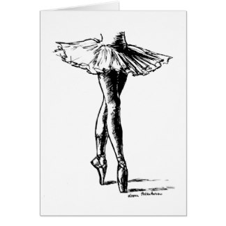 324x324 Ballet Shoes Drawing Cards Amp Invitations Zazzle.co.uk