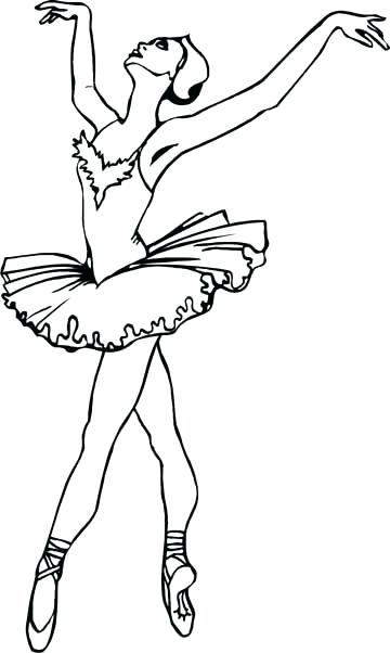 360x602 Coloring Pages Ballet Ballet Dancers Coloring Pages For Teenagers