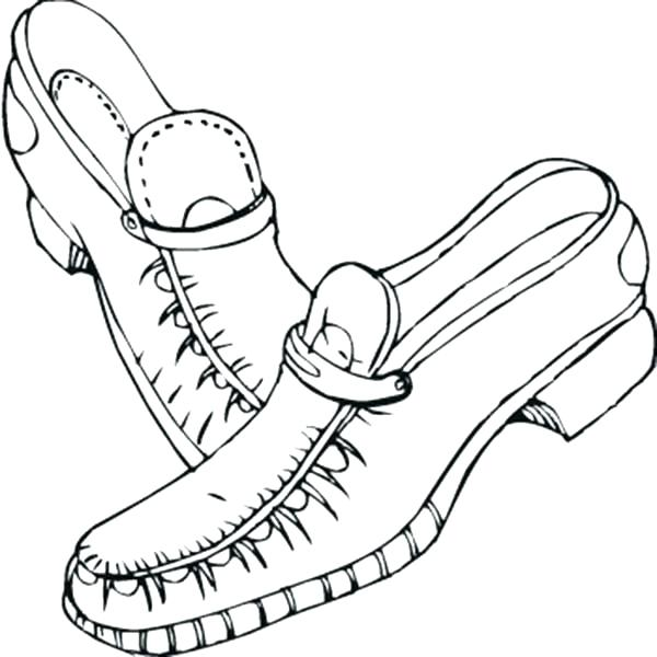 600x600 Coloring Pages Shoes Coloring Page Shoes Leather Shoes Coloring