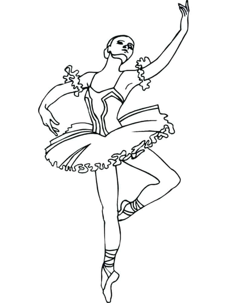 750x1000 Elegant Ballet Coloring Pages For Ballerina Coloring Pages 95