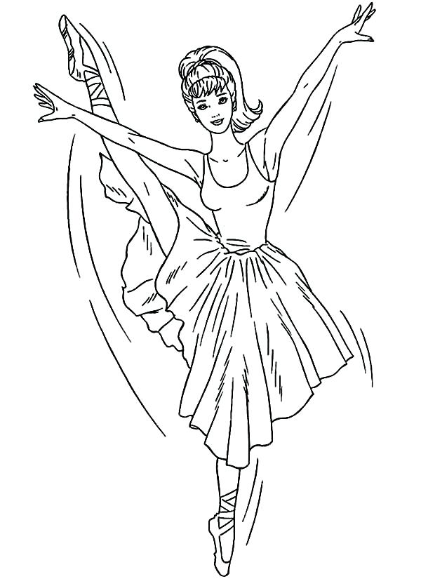 600x825 Ballet Coloring Pages Ballerina Coloring Pages For Ballet Shoe