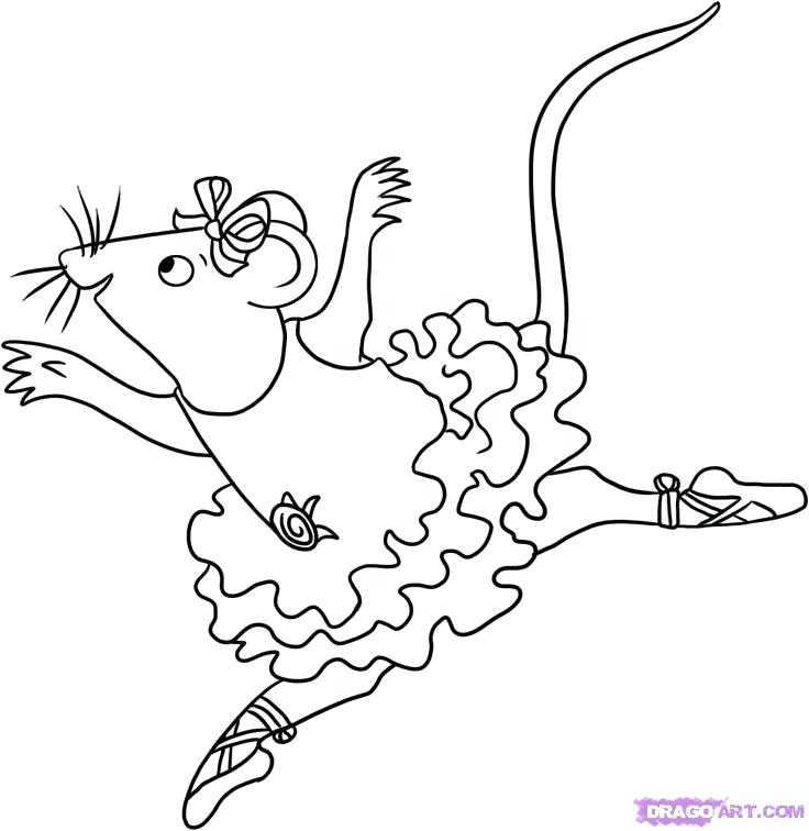 736x756 Ballet Coloring Pages Printable Ballerina Coloring Pages Ballerina