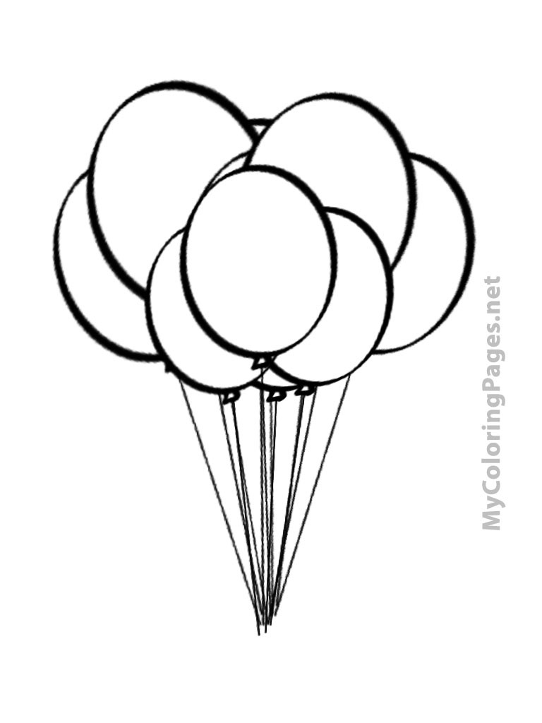 768x1024 Color Balloons Coloring Pages Page For Kids