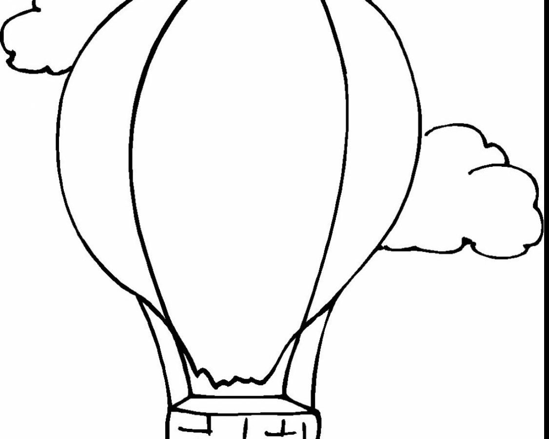 1126x900 Hot Air Balloon Coloring Pages For Preschool Free Printable Kids
