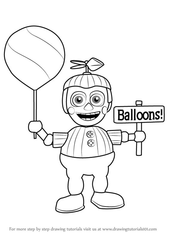 566x800 Learn How To Draw Balloon Boy From Five Nights