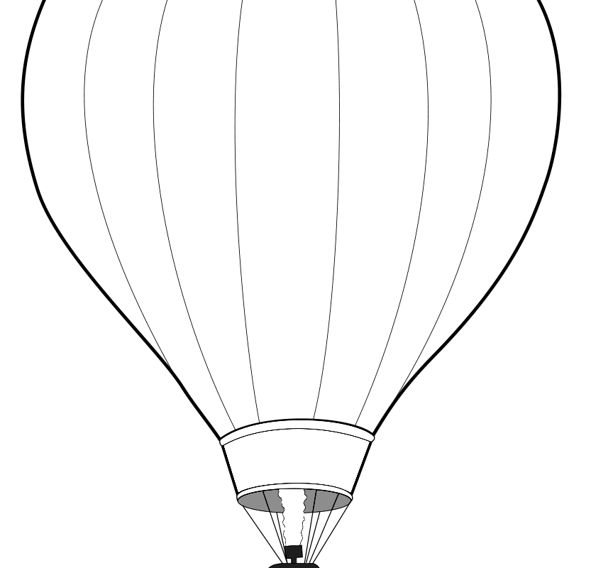 833x800 Up Air Balloon Coloring Page Free Printable Pages Kids Blank Hot