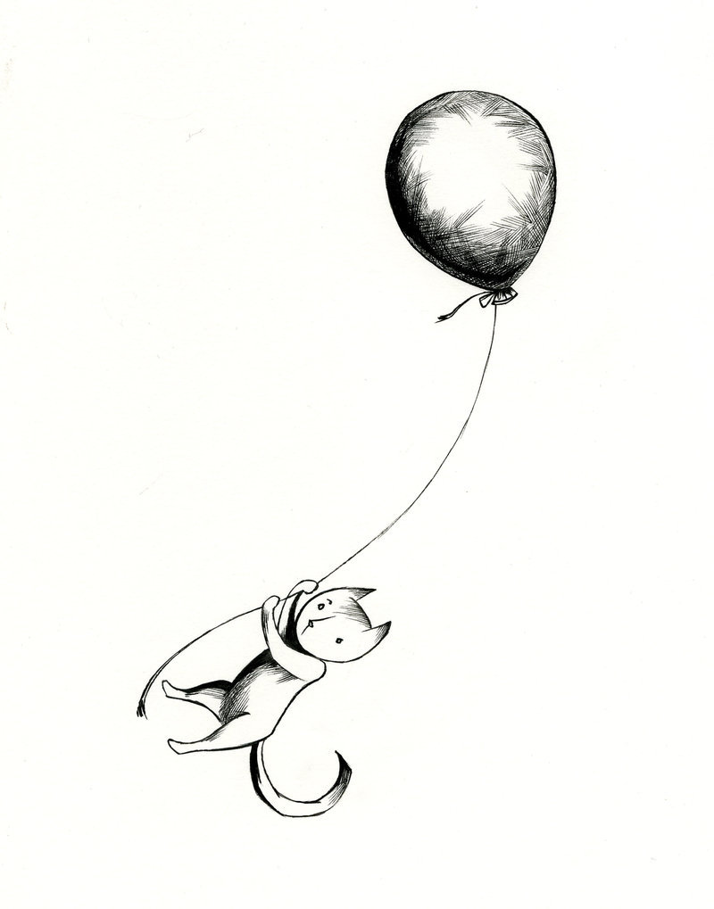 800x1019 Cat And Balloon 3 By Secndlogic