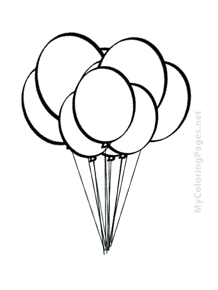 728x971 Coloring Pages Of Balloons Birthday Balloon Printable Coloring