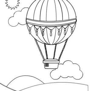 300x300 Drawing Hot Air Balloon Coloring Pages Bulk Color