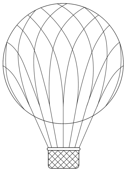 537x725 Drawn Basket Hot Air Balloon