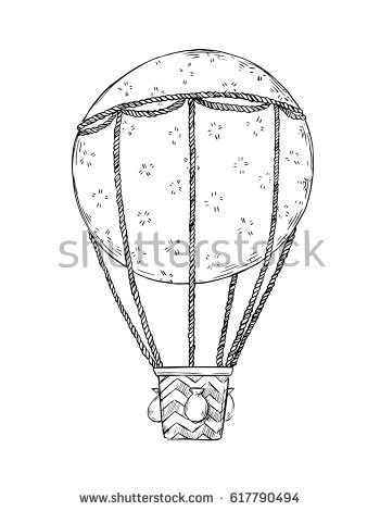 350x470 Drawn Hot Air Balloon Hand Drawn