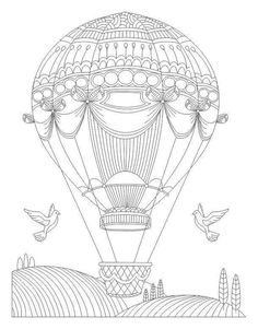 236x301 Adult Coloring Pages Hot Air Balloon 1 Coloring Crafts