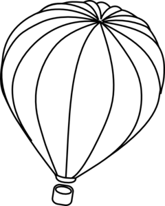 240x299 Hot Air Balloon Outline Clip Art