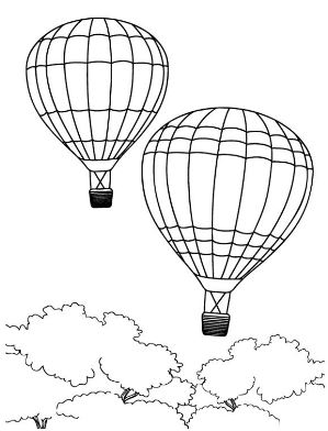 299x392 Hot Air Balloon Coloring Page Drawing Board Weekly