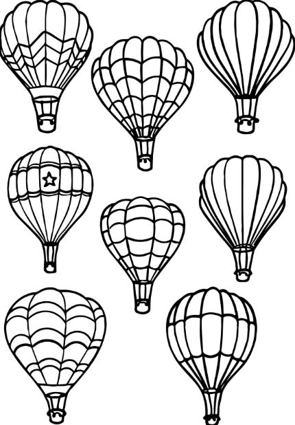 430x618 Hot Air Balloon Coloring Pages To Print Drawing Board Weekly