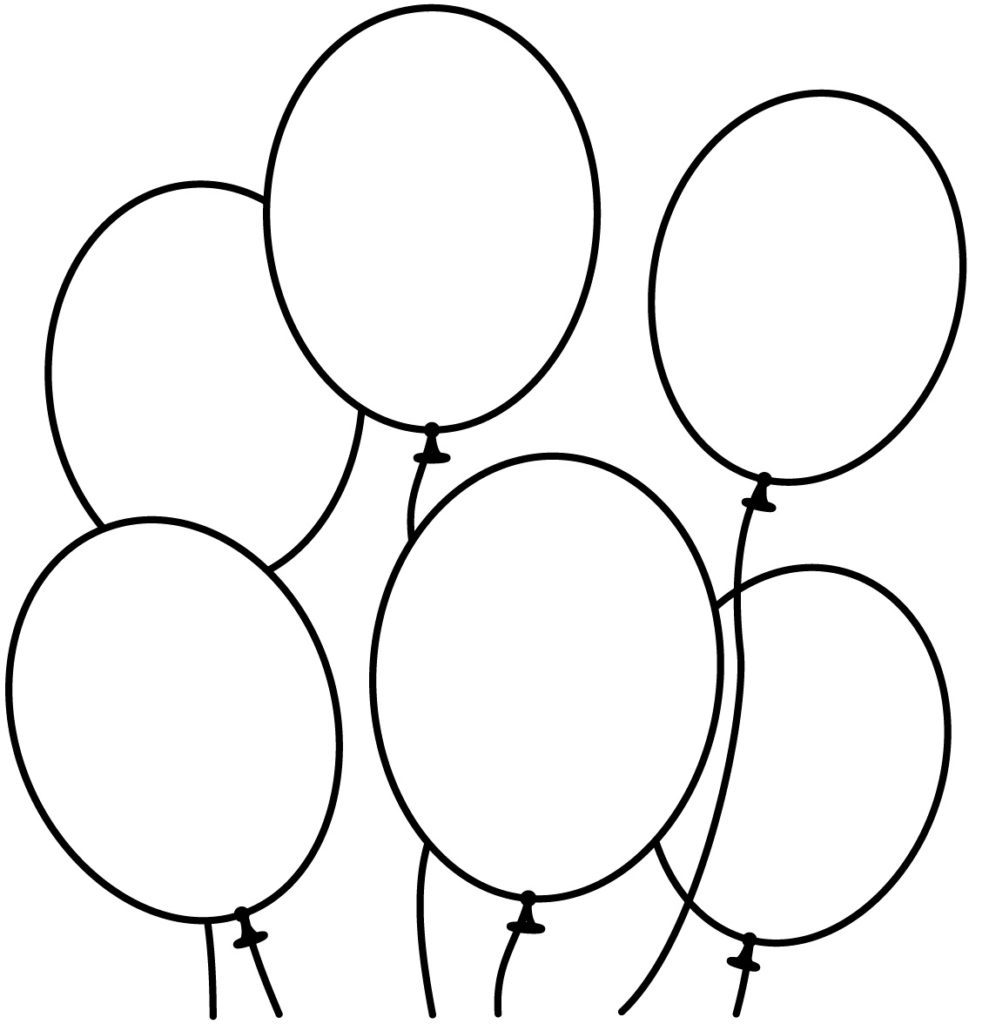 989x1024 Coloring Page Balloons Pages Of Free For Kids Hot Air Pictures