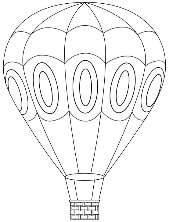 554x728 Hot Air Balloon Coloring Pages For Girls Colouring To Snazzy Print