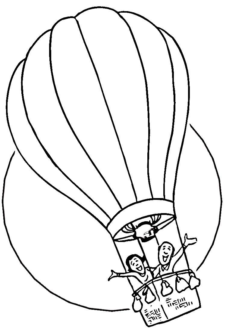 750x1093 Vintage Hot Air Balloon Drawing Clipart Panda
