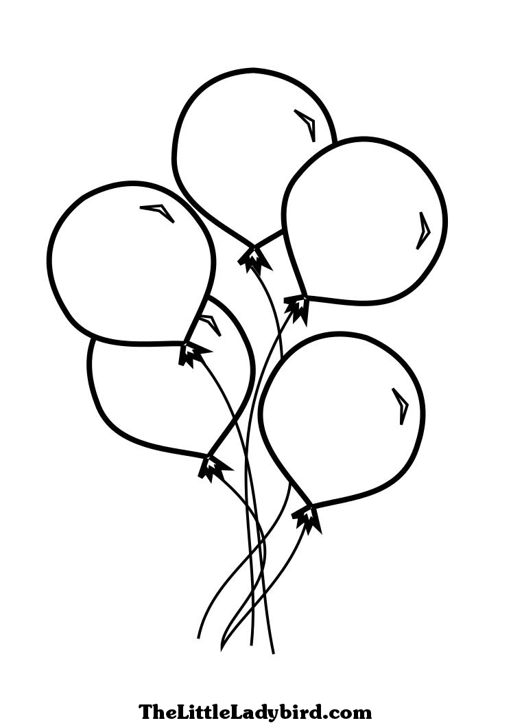 745x1053 Balloon Coloring Pages Balloons For Children