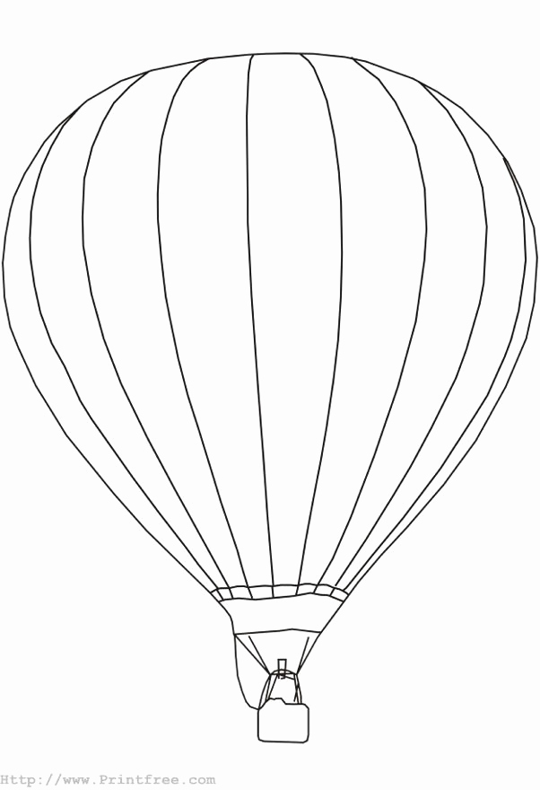 Balloon Outline Drawing