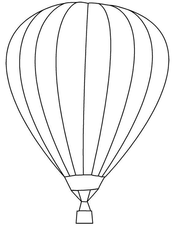 564x740 Balloon Templates Coloring Page Free Download