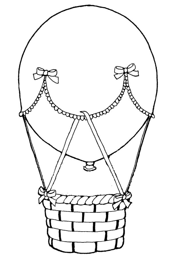600x926 Decorating Hot Air Balloon Coloring Pages Bulk Color