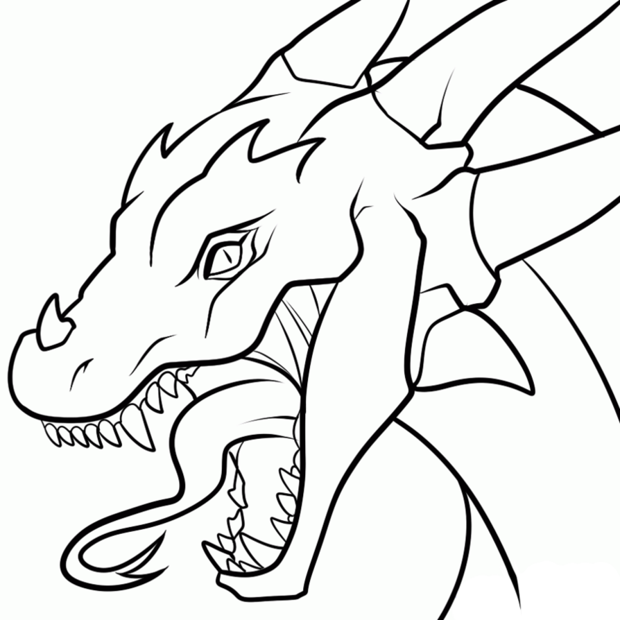894x894 Dragon Outline For Coloring Anime