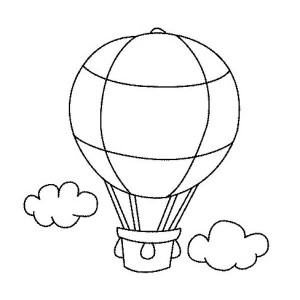 300x300 Hot Air Balloon Color Page Drawing Coloring Pages