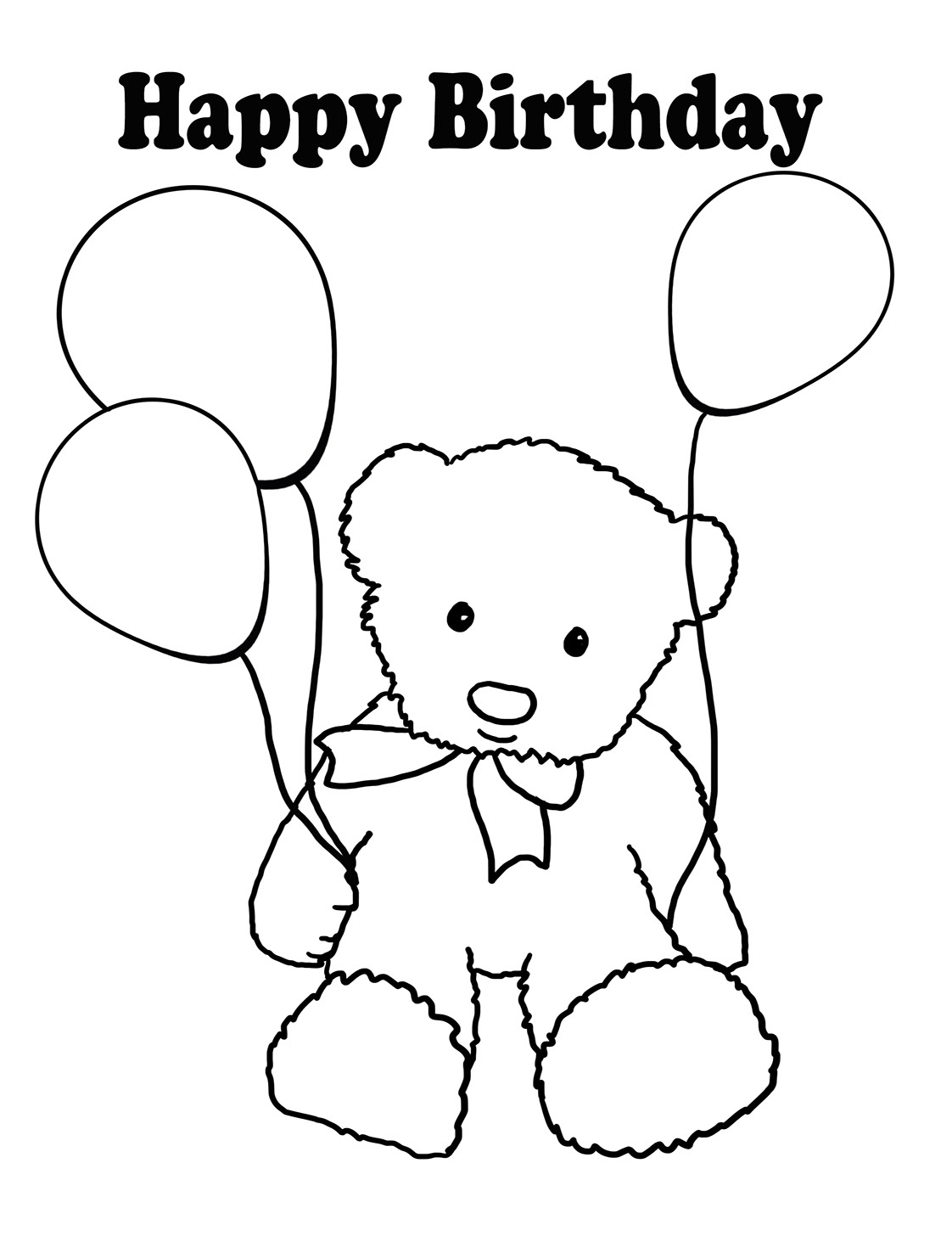 1122x1476 Birthday Coloring Pages
