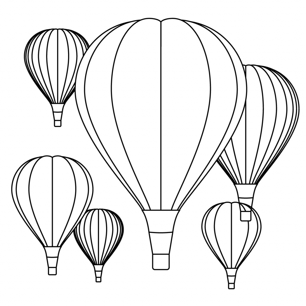1024x1024 Hot Air Balloon Drawing