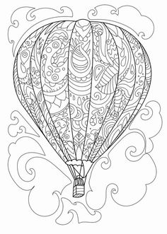 236x331 Hot Air Balloons Doodle Art Doodle And Zentangle