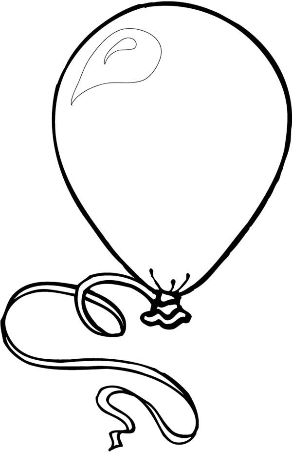600x926 Balloon Drawing Black And White